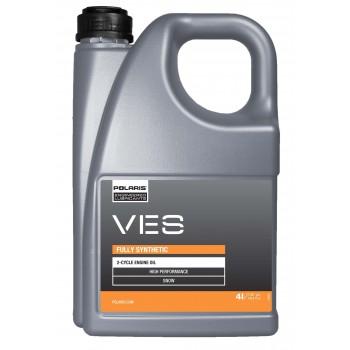 Оригинальное синтетическое моторное масло для 2-х тактных снегоходов Polaris VES Oil 4L 502077