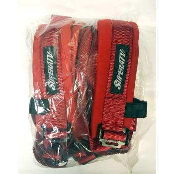 Ремни безопасности 4-х точечные UTV Latch Seatbelts SuperATV SB-2-RED