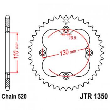 Звезда квадроцикла задняя 38 зубов Honda TRX 450/400/300/250 JTR1350-38