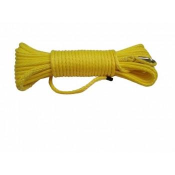 Трос для лебедки квадроцикла и UTV синтетический кевлар желтый 5.5X15 м RiderLAB 5.5X15DNGDY