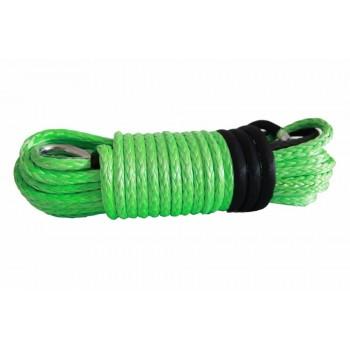 Трос для лебедки квадроцикла и UTV синтетический кевлар зеленый 5X15м RiderLAB 5X15DNGDG