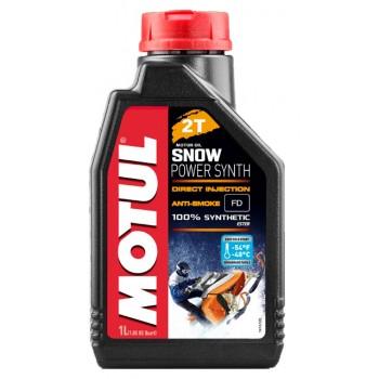 Синтетическое моторное масло снегохода 2Т Motul SnowPower SYNTH 1л 108209