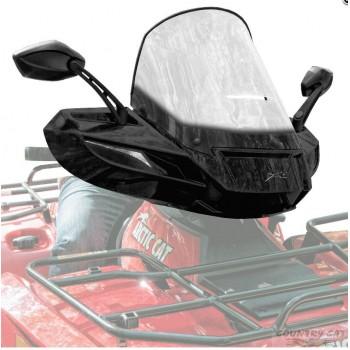 Стекло для квадроцикла универсальное с зеркалами черное ATV WindPro Viper Black 1436-233/1436-536