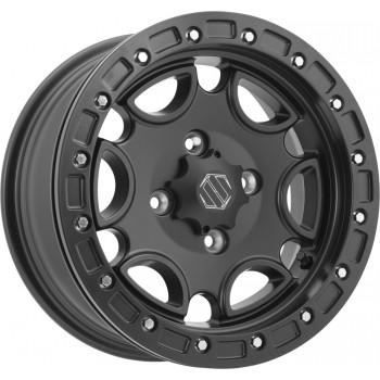 Комплект дисков квадроцикла с бедлоком R14 Can-Am Maverick /Outlander /Renegade 14X7 5+2 4/136-4/137 Hiper Falcon 1470-KFSBK-52-SBL-BK /575-11483