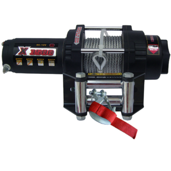 Лебедка для квадроцикла со стальным тросом сальниковая усилие 3500Lbs Master Winch X3500