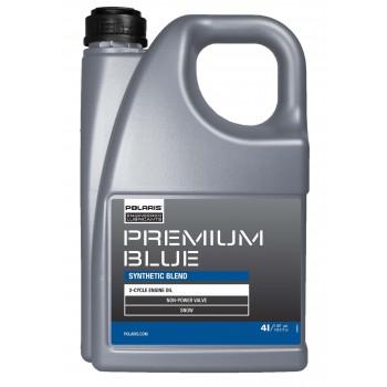 Оригинальное полусинтетическое масло 2-х тактных двигателей снегохода Pure Polaris Premium Blue 4л 502495