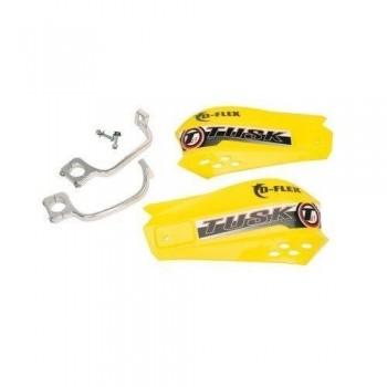 Защита рук желтая с одноточечным установочным комплектом 22мм Tusk MX D-Flex 1198150007