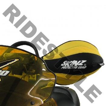 Защита рук снегохода на руль, мягкая Skinz HGT100-BK-YLW