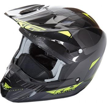Шлем черно зеленый 2XL Fly Racing Kinetic Pro Cold  73-49372X