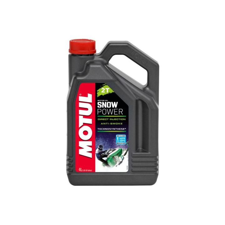 Моторное масло для снегоходов Motul Snowpower 2T 4 л 101021/005584/106600