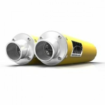 Глушители двойные желтые Can-Am Renegade 1000 HMF Performance DUAL Slip-On Exhaust 014385636371