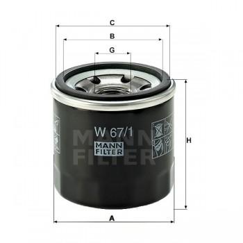 Масляный фильтр Jumbo 700 15533-MAX-00 /РМ500 /РМ Рысь 001-01170 MANN W67/1