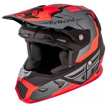 Шлем для кросса /квадроцикла детский размер YM 49-50см FLY RACING TOXIN ORIGINAL HELMET MATTE ORANGE/BLACK/GREY 73-8516YM