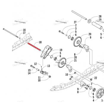 Втулка ролика подвески снегохода Arctic Cat T660 /BEARCAT /PANTHER /PANTERA 05-08 2604-737