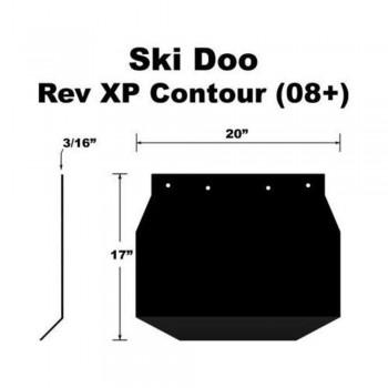 Брызговик снегохода Ski-Doo REV XP 08+ 10-15042