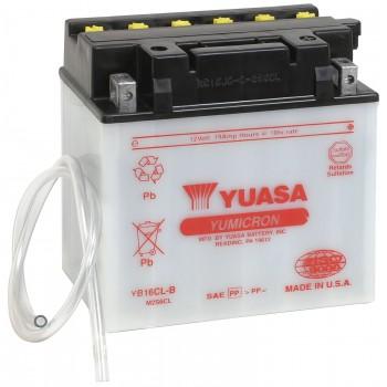 Аккумулятор YUASA YB16CL-B с электролитом