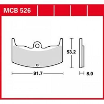 Тормозные колодки TRW mcb526