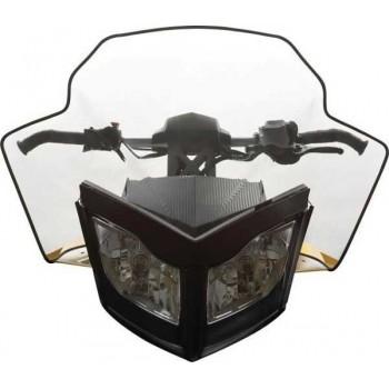 Оригинальное стекло снегохода 45см Ski-Doo REV XP /LYNX REX 860200547