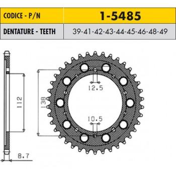 Звезда задняя 44 зубов стальная Honda X11 JTR302-44 /1-5485-44