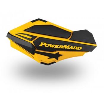 Щитки защиты рук квадроцикла /снегохода желтые /черные PowerMadd 34401 /18-95180