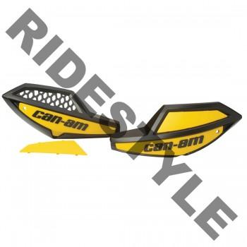 Защита рук квадроцикла в сборе (крепеж+пластиковые щитки желтые), оригинальная BRP/Can-Am Outlander/