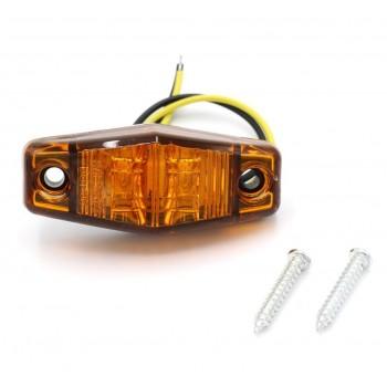 Светодиодные поворотники 4шт (2желтых+2красных) 5W 66мм*28мм 12V/24V 500Lm FL098CA